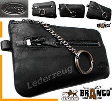 Schlüsseltasche Branco Leder schwarz Etui Schlüsseletui  Autoschlüssel Tasche NE