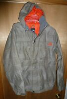 The North Face HyVent Ski Snowboard Jacket Men's Brown Plaid Hooded - Size S