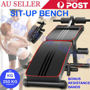 AU Foldable Adjustable Sit Up Abdominal Bench Exercise Fitness Weight Gym Gift