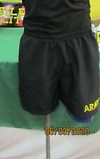 Military Army PT Shorts Short APFU Physical Fitness Trunks Black Gold Used Exc