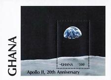 Space/Astronomy from Ghana 1989 Apollo 11 Anniv. S/S Mnh Cv$4.25 *