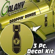 Jeep Wrangler Side Hood Decal Kit - F-bomb Matte Black Sticker TJ LJ JK