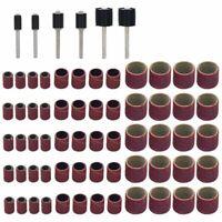 66 Stueck Trommelschleifmaschinen-Set, Einschliesslich 60 Stueck Schleifbaend m8