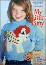 Tejer patrón * Mi Pequeño Pony Strawberry Fair * CHILDS CHICAS Suéter Jumper