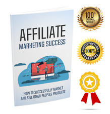 Affiliate Marketing Success - eBook pdf - With Resell Rights - Delivery 12 hrs