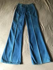 VTG Deadstock NWT 70's Landlubber Sanforized Bell Bottom Wide Leg Jeans 7 25w