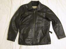 Men's Wilsons M Julian Black Leather Motorcycle Jacket Cafe Racer Vintage Medium