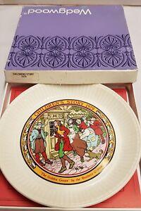 Wedgwood Queen's Ware Children's Stories The Golden Goose Plate 1979 MIB Leaflet