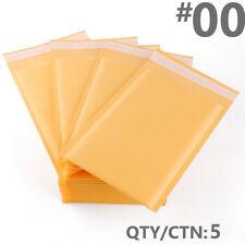 EXACT DESIGN 5 Count #00 KRAFT Bubble MAILER Padded Envelope 5x10 Ecolite