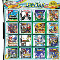 NDS 482 in 1 Game Cartridge Mario Multicart for Nintendo DS Lite NDSi 3DS 2DS