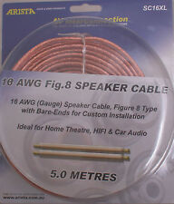 5m 16 AWG Gauge Figure 8 Speaker cable 0.12mm wires