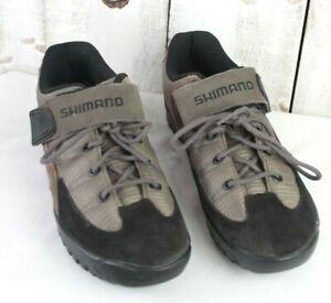 Shimano SH-M 038W Women Lace Up Dark Tan Black Mountain Bike Shoes sz 7 US