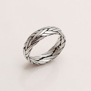 925 Solid Sterling Silver Thumb Ring Band Unisex Handmade Antique Fine Jewelry