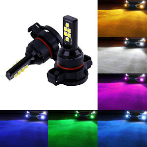 5202 H16 LED Bulbs For Fog Light Driving Lamp 6 Color