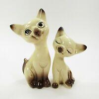 Vintage Cat Salt Pepper Shakers Set Siamese Japan Kittens Ceramic   INV431