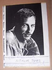 Nicholas Jones  Autograph 8 x 11.5 inch  printed paper (rad) see full listing