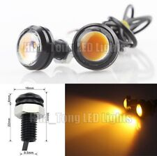 2 Pcs COB LED Eagle Eye Amber Daytime Running DRL Tail/Head Light Backup Yellow
