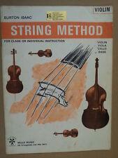 violin STRING METHOD Burton Isaac