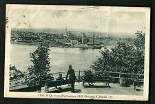 CANADA OLD POSTCARD-USED-1929-HULL-P.Q-FROM PARLIAMENT HILL-OTTAWA.RARE