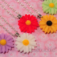 FUNKY VINTAGE 22mm DAISY NECKLACE WEDDING FAVOUR CUTE GIFT BRIDE BRIDESMAID PROM