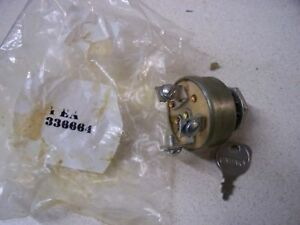 Jacobsen Homelite ford Tractor  Mower Key Switch 336664