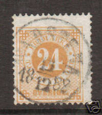 Sweden Sc 34a used 1883 24ö yellow Numeral F-VF