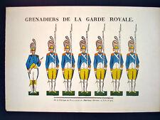 Vintage Imagerie Pellerin Grenadiers de la Garde Royale Inv1701