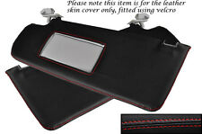 RED STITCHING FITS VW POLO MK3 1994-1999 2X SUN VISORS LEATHER COVERS ONLY