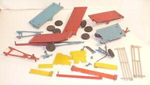 FV06 lot of Crescent Toys farm cart pieces