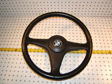 "BMW E28 535i BMW BLACK Leather steering OEM 1 Wheel & Horn 1 Switch,15"" inch,T#2"