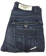 Taverniti So Women's Button Fly Flare Jeans California LA Dark Wash - Size 31x32