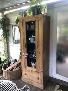 Victorian Antique Old Pine Victorian Larder Cupboard / Cabinet / Wardrobe