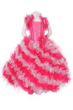 New Girl Glitz Pageant Wedding Bolero Ruffled Dress Fuchsia/Silver2 4 6 8 10 12