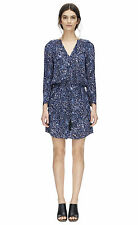REBECCA TAYLOR Long sleeve block print shirt dress NWT 0 $395.00