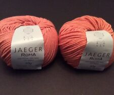 Jaeger Roma Yarn Nectarine Orange 008 Lot Of 2 Skeins Italy Viscose Angora 50g