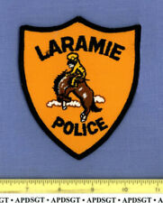 LARAMIE WYOMING Sheriff Police Patch BUCKING BRONCO HORSE RODEO COWBOY
