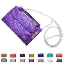 A4037 NEW Python Embossed Genuine Leather Cross-body Bi-fold Handbag Wallet SALE
