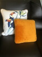 Vintage Orange Fuzzy THREE STONES Vibrating Massage Throw Pillow ;Needs Battery