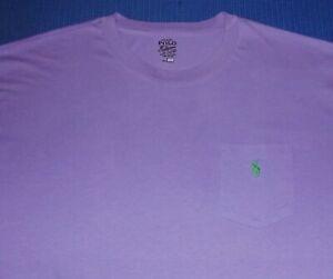 POLO by RALPH LAUREN Purple Pocket T Shirt XXL TALL 2XLT NICE
