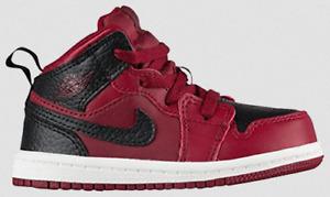Air Jordan 1 MID BT (TD) Toddler Size 7c Team Red Black Unisex 640735 601 New