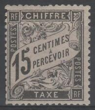 "FRANCE STAMP TIMBRE TAXE N° 16 "" TYPE DUVAL 15c NOIR "" NEUF xx TB  N582"