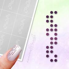 Schablonen für Airbrush und Nailart P027 Punkt Kreis rund Punkte Kugel Muster