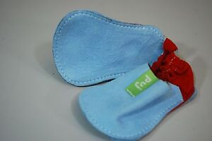 PUJ Unos Baby Boys Shoes / Suede Leather Crib Shoes Booties Size 3-9 Months Blue