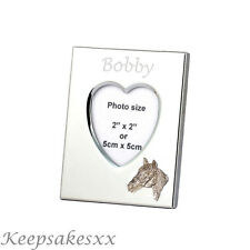 Heart Photo Frame with HORSE Head in Sterling Silver & personalised engraving