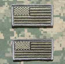 2 Mini Usa United States Flags Hat Cap Acu Light Velcro® Brand Fastener Patch