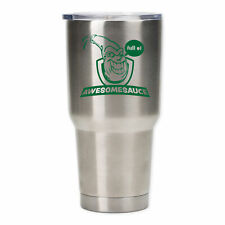 Full Of Awesomesauce Emerald Green 30 Ounce Stainless Steel Travel Tumbler Mug