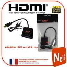NGI-1080P HDMI Mâle vers VGA Femelle Video Convertisseur Adaptateur + Audio