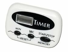 Chef Craft 21239 1-Piece 99 Minute Digital Timer with Clip, White, 2-1/2-Inch