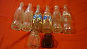 8 Old Dig Glass Bottles - 2 Cottee, 4 Coca Cola, 1 Bonox, 1 Pitt &