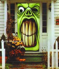 Halloween Door Wall Mural Angry Frankenstein Bloody Help Me Bloody Do Not Enter